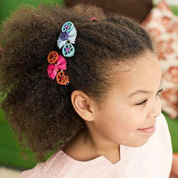 Pinzas para el pelo decoradas - Manualidad