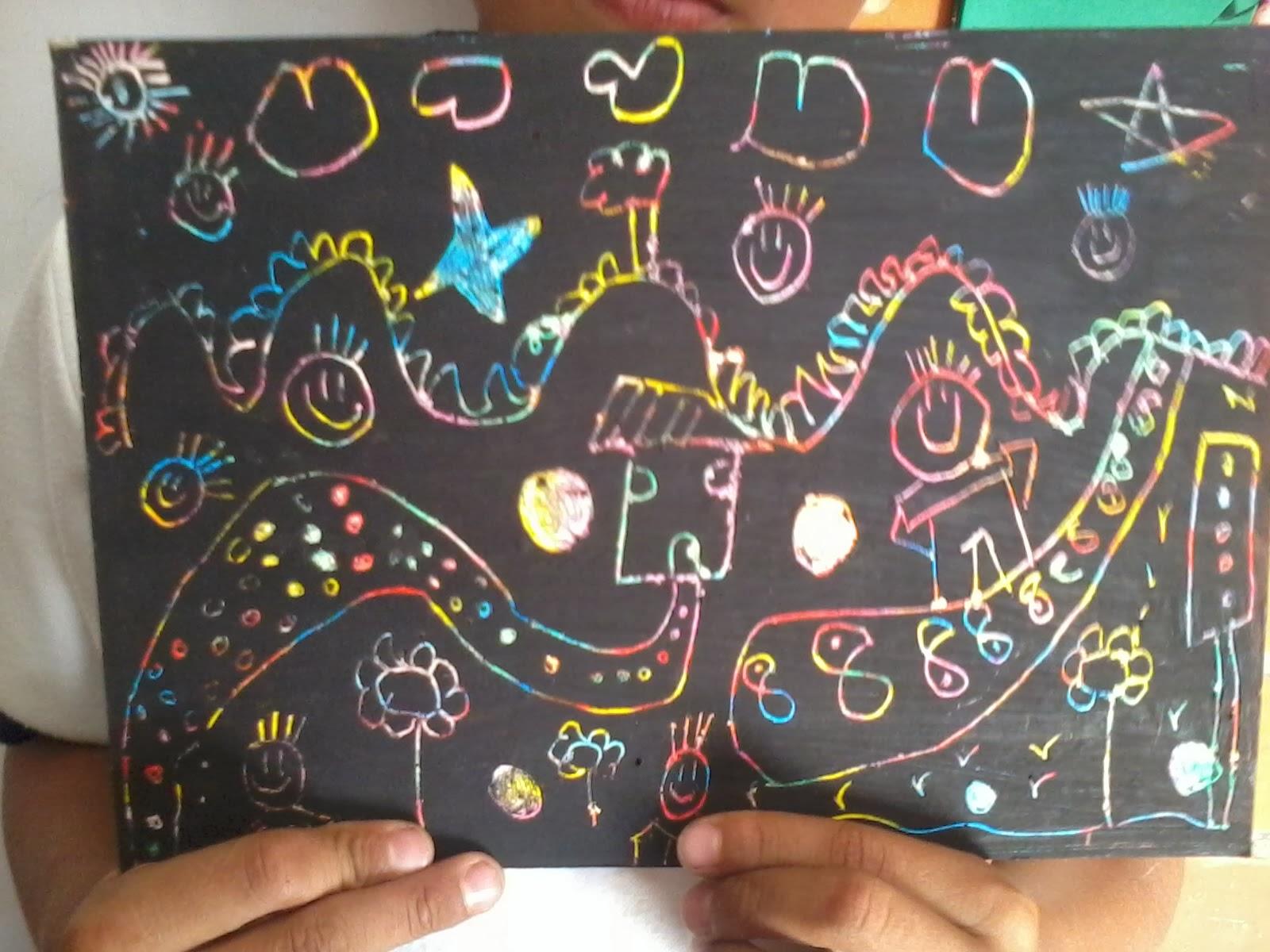 Dibujos con ceras para niños