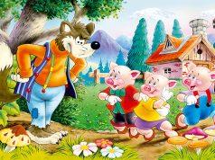 Los tres cerditos y el lobo feroz