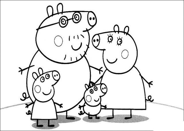 Dibujos de Peppa Pig para pintar y colorear