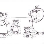 La familia Pig saltando en charcos de barro
