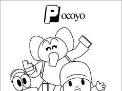 Dibujo de Pocoyo para colorear sus personajes - imprime el dibujo y píntalo a tu gusto - 2020 actualizado