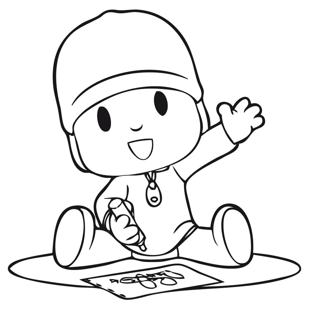 Dibujos de Pocoyo para pintar y colorear - Imprime los dibujos y ...