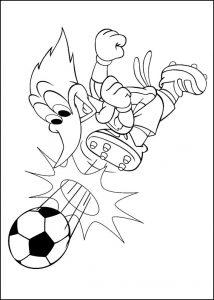 Nuestro pájaro favorito jugando al fútbol