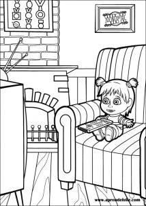 Una forma de pasarmelo genial es pintar y colorear los personajes de la serie de dibujos animados Masha y el Oso