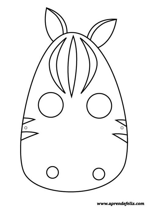 Careta de cebra gratis para descargar - imprimir - recortar - colorear y pintar - disfraces divertidos