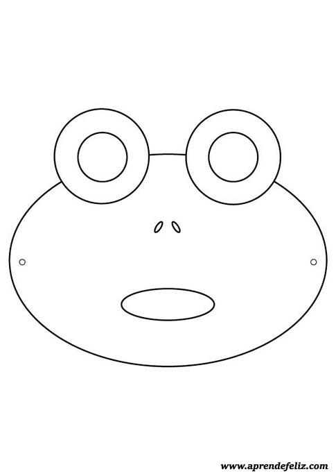 Careta de rana gratis lista para imprimir - recortar - colorear y pintar - disfraces divertidos