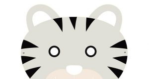 Caretas infantiles gratis para pintar y recortar - Careta de tigre lista para imprimir