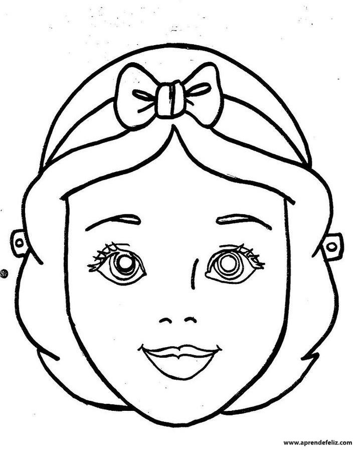 Imprime gratis esta careta de princesa de Disney para pintar y colorear