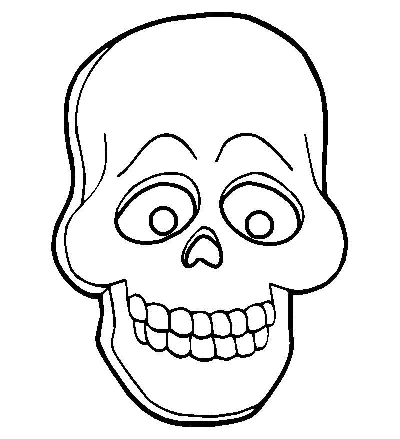 Caretas de Halloween para imprimir , pintar y colorear - Aprende Feliz