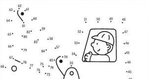 Dibuja vehículos uniendo los puntos numéricos , dibuja una espectacular excavadora fácilmente