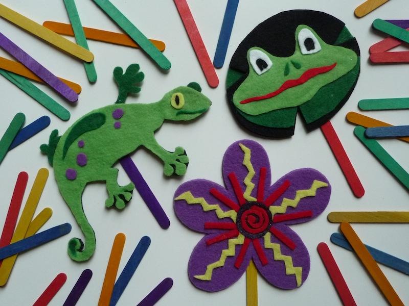 Crear marionetas de animales con fieltro