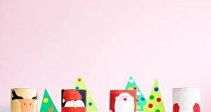 Crear personajes navideños con rollos de cartón