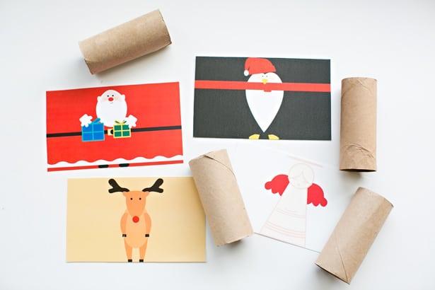 Materiales para crear personajes navideños