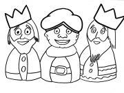 Dibujo de los Reyes Magos para pintar y colorear gratis