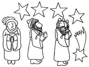 Dibujos de los Reyes Magos para colorear y decorar la habitación