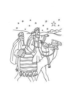Imagen de Los Reyes Magos montados en sus camellos camino de Belén