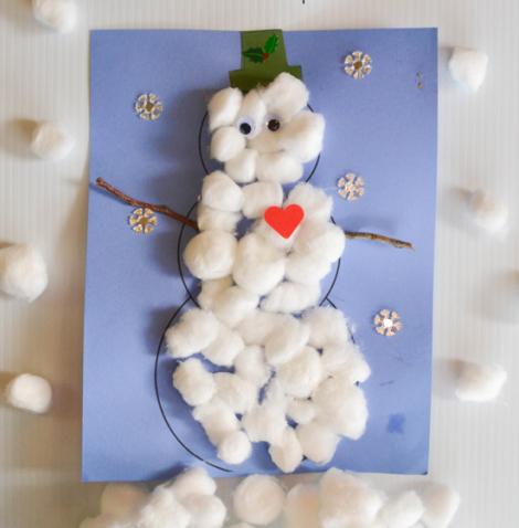 Muñecos de nieve de algodón