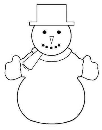 Plantilla para hacer muñecos de nieve de algodón