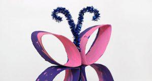 Hacer mariposas con rollos de papel higiénico