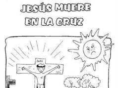 Dibujos de Semana Santa para pintar y colorear - La muerte de Jesús