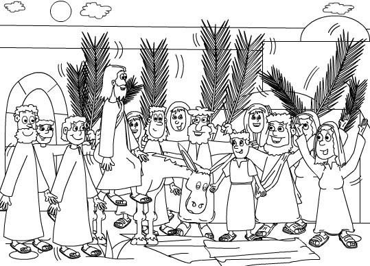 Dibujos para colorear de Semana Santa - Domingo de Ramos