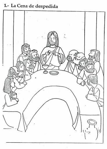 La última Cena De Jesús En Dibujo Para Colorear Los Más