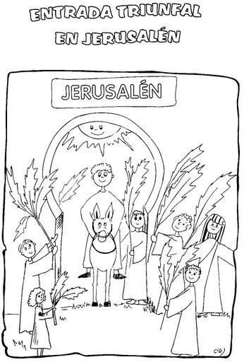 Manualidades para Semana Santa - La entrada triunfal a Jerusalén