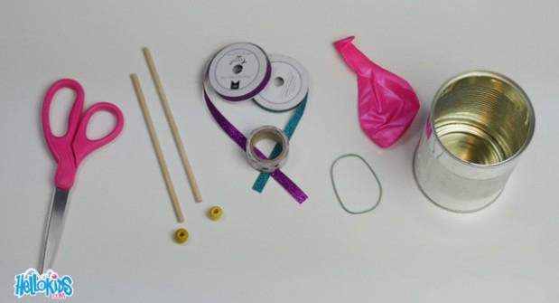 Materiales necesarios para hacer un tambor de Semana Santa para niños