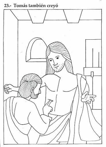 Tomás creyó en Jesús resucitado - Pinta este histórico dibujo