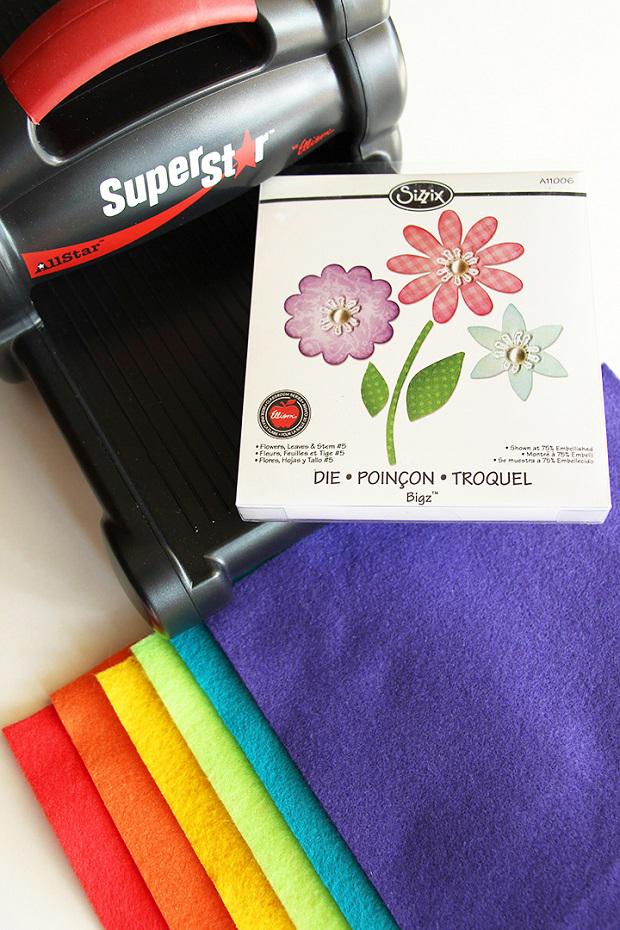 Materiales necesarios para hacer flores de fieltro