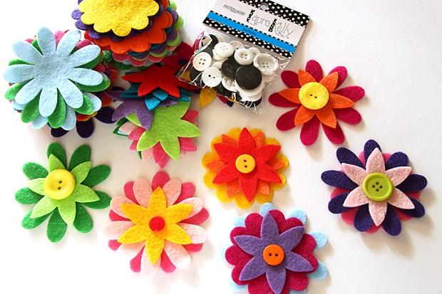 Paso 2 - Pegamos las distintas capas que tendrán las flores