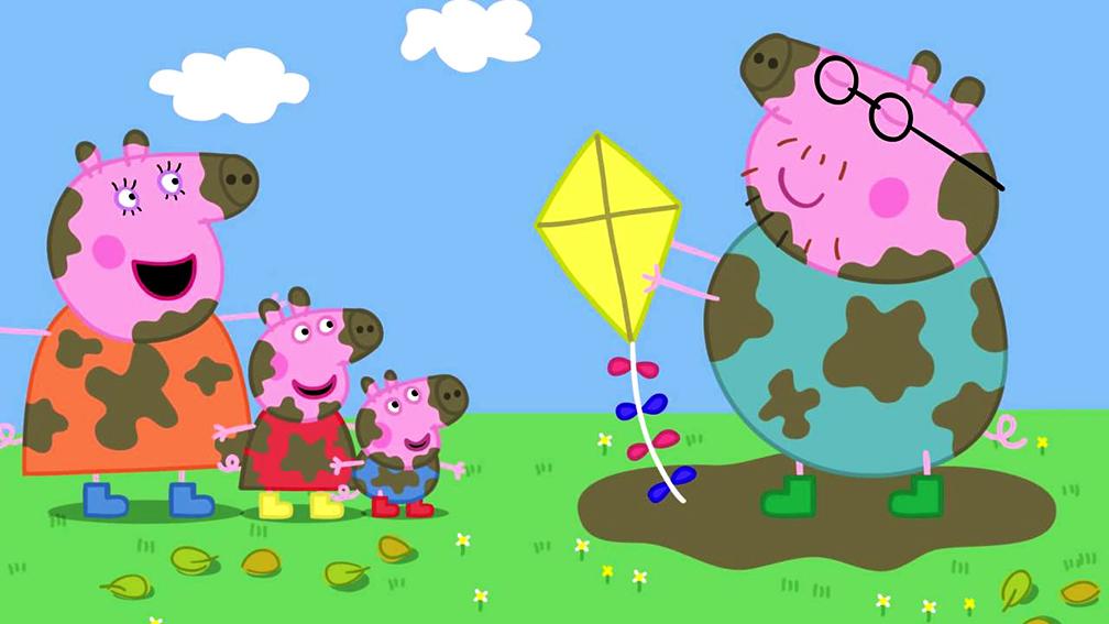 Peppa Pig Capitulo 7 - Volando la cometa