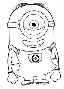 Carl Minions personaje de Mi Villano Favorito para pintar y colorear