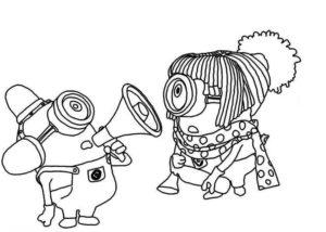 Dibujos divertidos de los Minion para imprimir y pintar decorando tu habitación