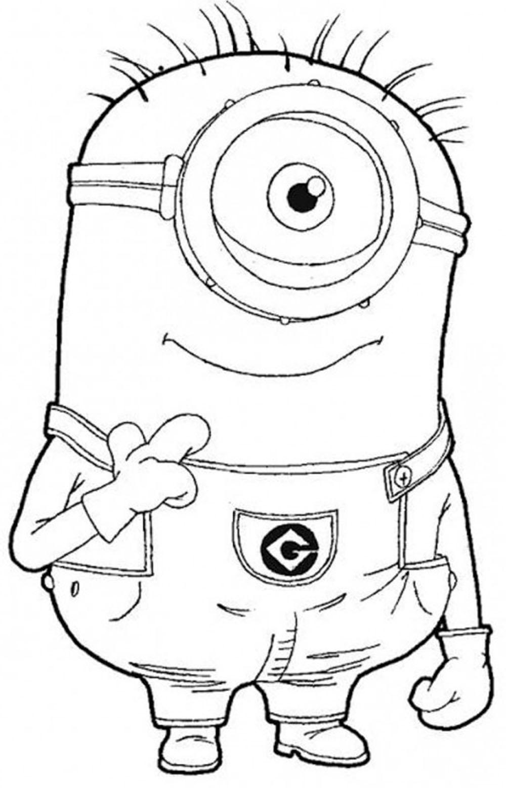 Imprime Gratis Dibujos De Los Minion Para Pintar Y Colorear