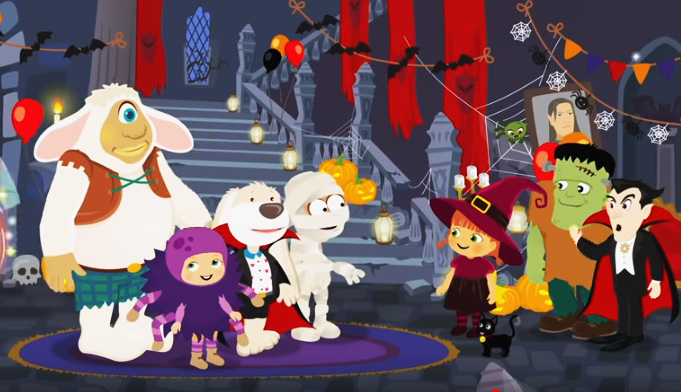 Dibujos animados de La Bruja Tatty - Noche de Halloween