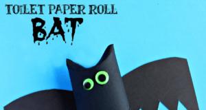 Hacer murciélagos de Halloween con rollos de papel higiénico