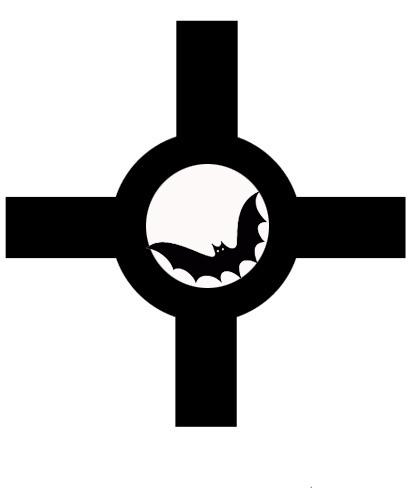 Plantilla para hacer proyección de murciélago de Halloween