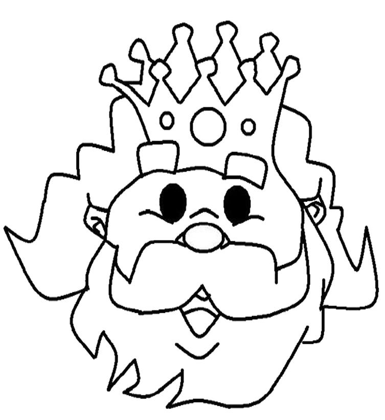 Caretas de los Reyes Magos gratis para pintar y recortar - careta del Rey Melchor