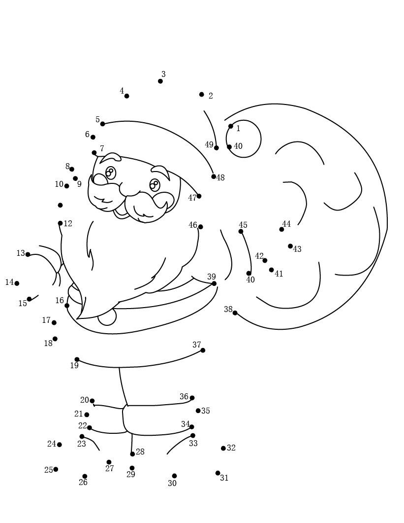 Dibuja a Santa Claus uniendo los números