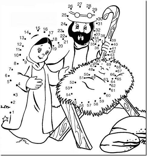 Dibujar Nacimiento de Jesús uniendo los números