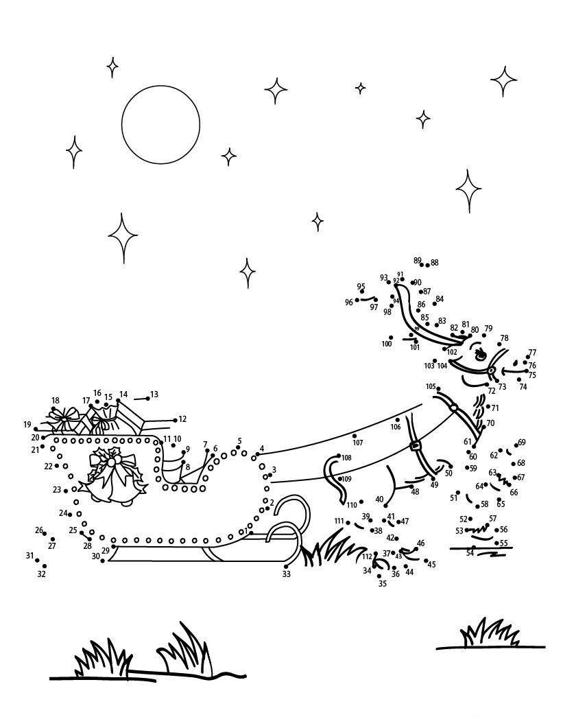 Dibujar reno de Navidad uniendo los números