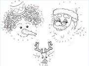 Dibujos de Navidad uniendo los números