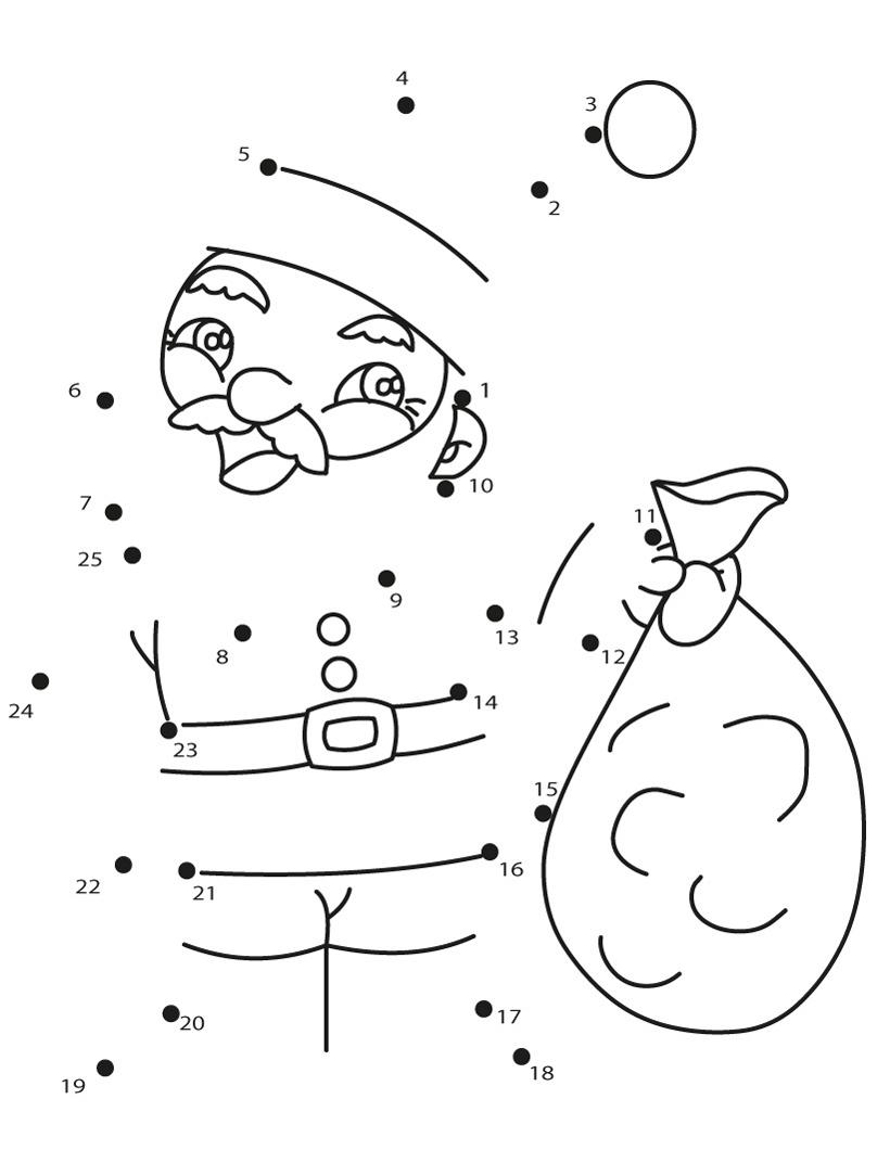 Une los puntos de Navidad uniendo los números