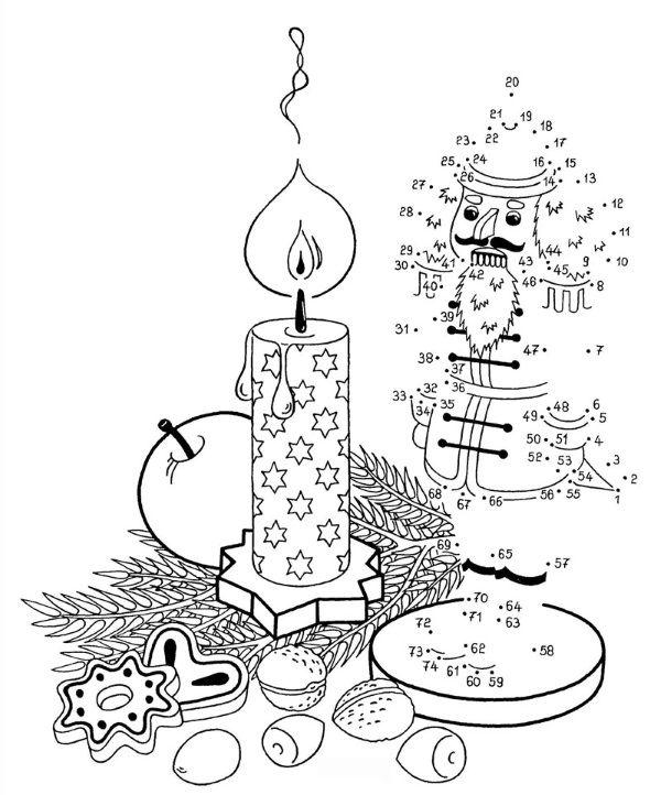 Vamos a dibujar unos bonitos adornos de Navidad gratis uniendo los números - Imprime gratis y dibuja