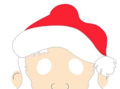 Caretas de Santa Claus - Caretas de Papá Noel para imprimir gratis en color