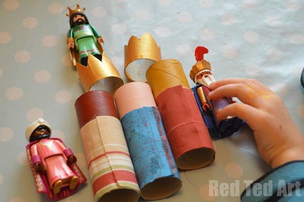 Paso 2 - Vestir a los Reyes Magos