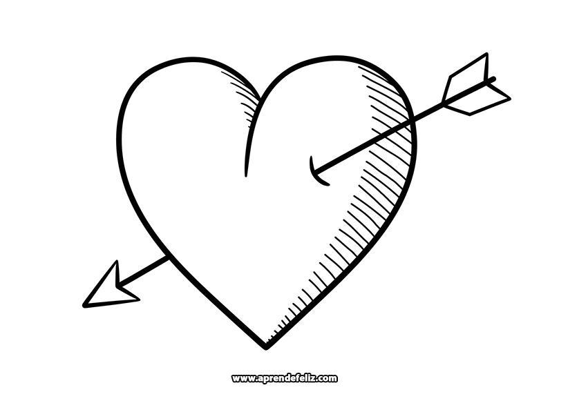 Descarga dibujo de corazones para regalar en San Valentín, imprime gratis y colorea