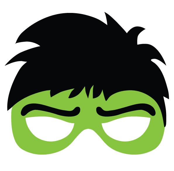 Descarga gratis e imprime la máscara del Increible Hulk